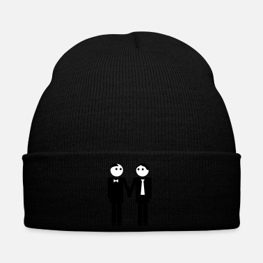 Clipart gay couple / gay couple hand in hand 2c - Bonnet d'hiver