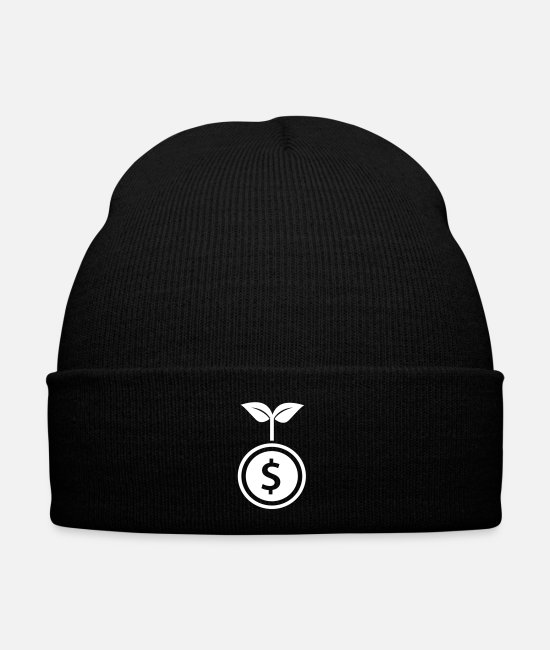 Grow Caps & Hats - Plant coin business - Winter Hat black
