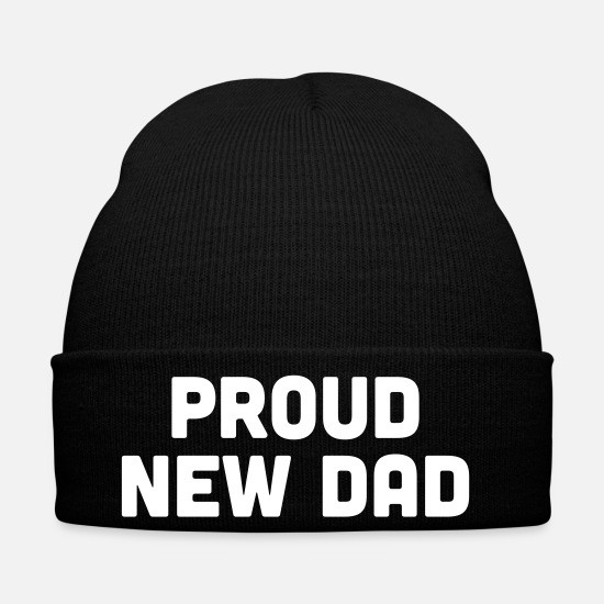 Dad Gorras y gorros - Proud New Dad - Gorro de invierno negro
