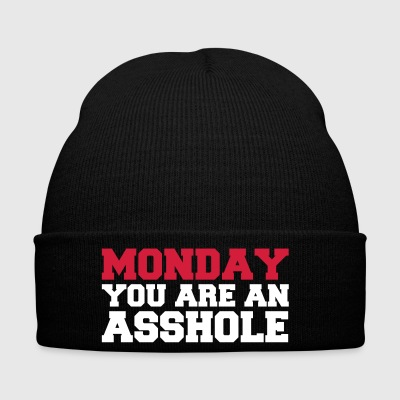 Monday you are an asshole - Winter Hat