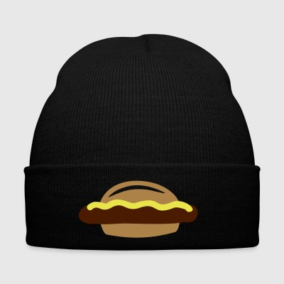 Bratwurst with buns and mustard gift - Winter Hat