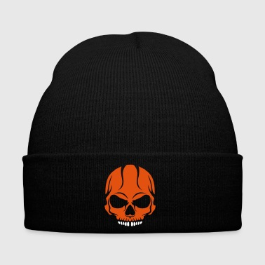 scary skull halloween drawing crane 2800 - Winter Hat