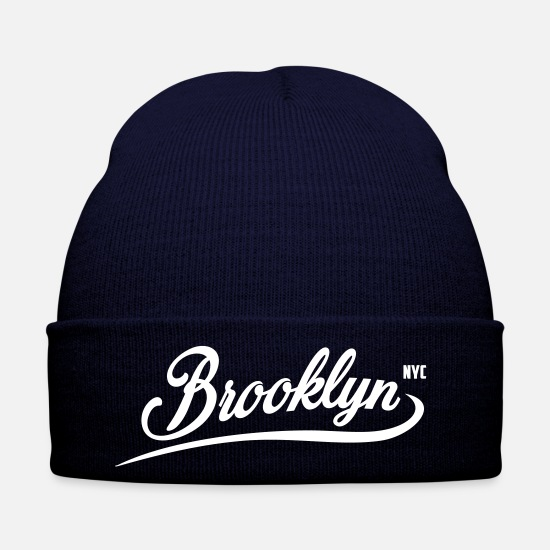 Brooklyn Caps & Mützen - Brooklyn New York City Fashion - Wintermütze Navy