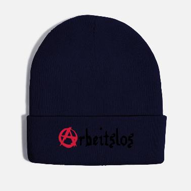 Unemployed Unemployed, anarchy, Humor, labor office, - Winter Hat