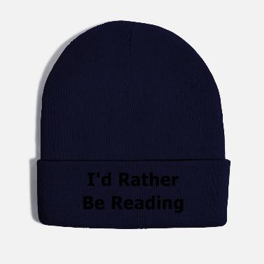 Slogan Funny Reading Slogan Books - Winter Hat