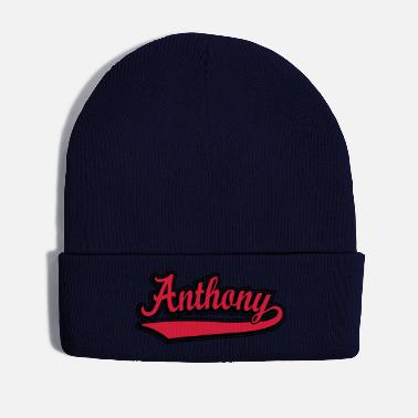 Name Anthony - Name as a sport swash. - Winter Hat