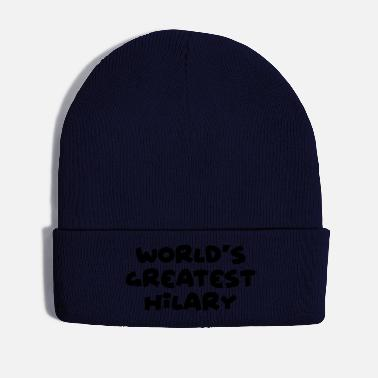 Hilarious worlds greatest hilary name - Winter Hat