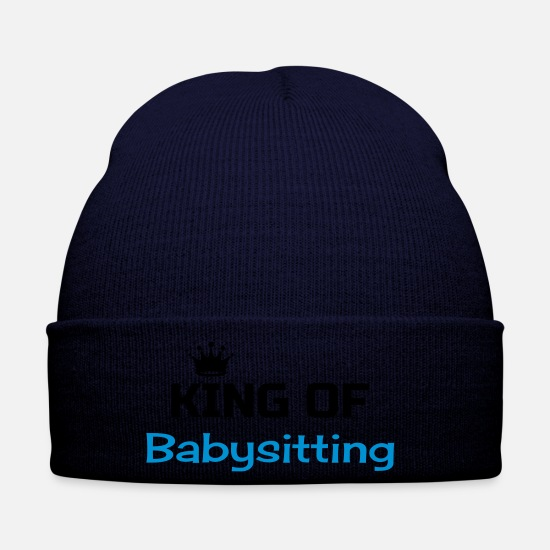 Childhood Caps & Hats - Babysitter Babysitting Baby-sitter Baby sitting - Winter Hat navy