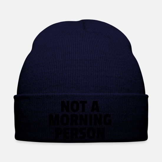Person Caps & Mützen - Not A Morning Person - Wintermütze Navy