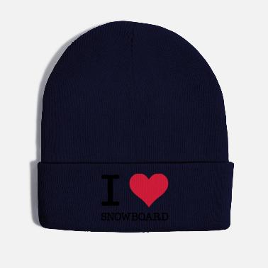 Cult I love snowboard cult saying motif - Winter Hat