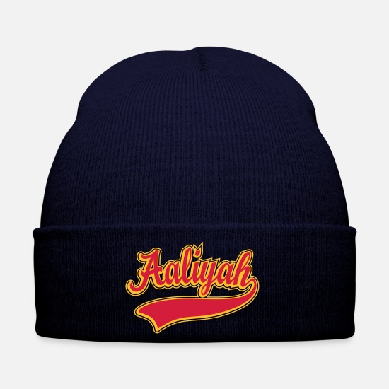 Aaliyah Caps & Hats - Aaliyah - Name as a sport swash - Winter Hat navy