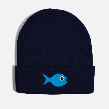 Open Fish with googly eyes - Winter Hat