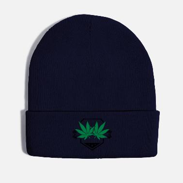 Raucher leaf_hemp_design_pu2 - Wintermütze