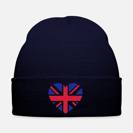 England Caps & Hats - gb_2color - Winter Hat navy