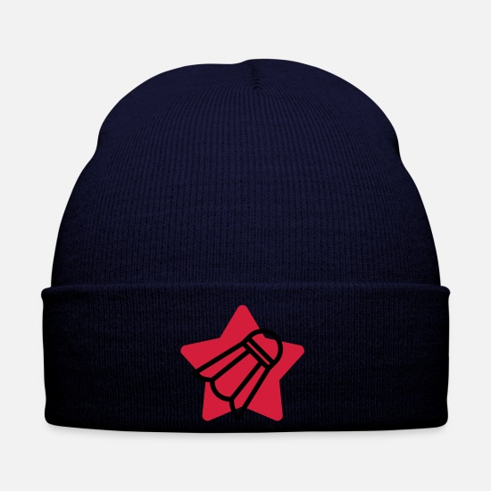 Tennis Player Caps & Hats - Badminton / Badminton Player / Birdie / Sport - Winter Hat navy