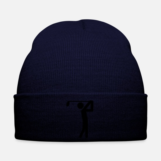 Birdie Caps & Hats - golfer icon - Winter Hat navy