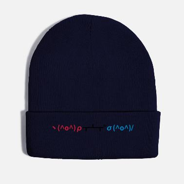 Ping Ping Pong Table Tennis Emoticon Japanese Kaomoji - Winter Hat