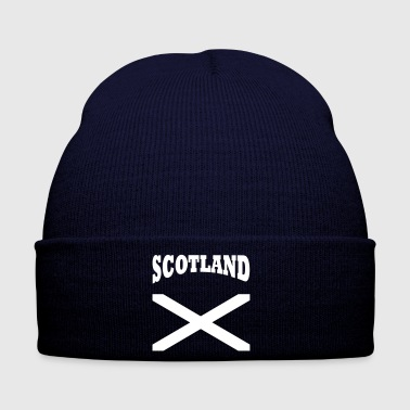 Scotland + cross - Wintermütze