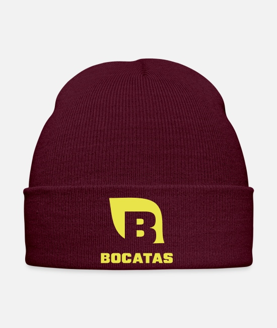 Game Caps & Hats - Bocatas T-shirt, in case you are hungry. - Winter Hat burgundy