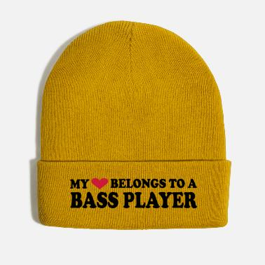 Bass Player MY HEART BELONGS TO A BASS PLAYER - Winter Hat