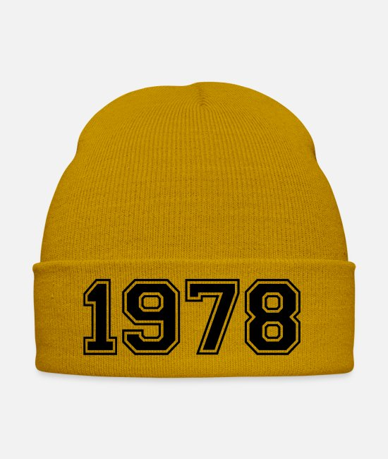 College Style Caps & Hats - 1978 - Winter Hat mustard yellow