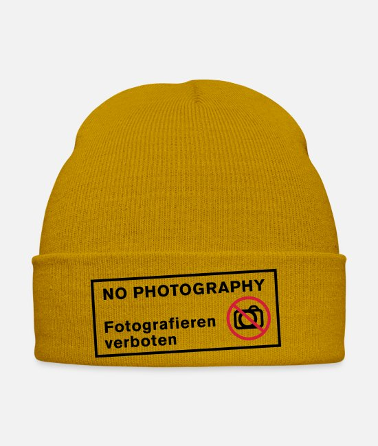 Photos Caps & Hats - Photography - Winter Hat mustard yellow