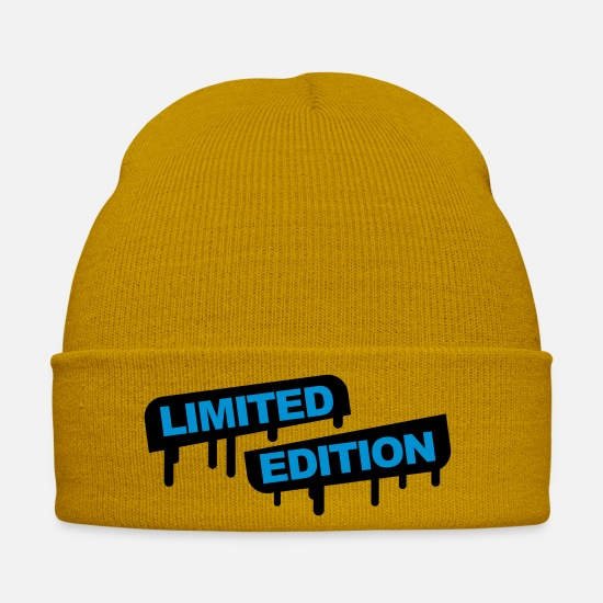 Miscellaneous Caps & Hats - Limited Edition Graffiti - Winter Hat mustard yellow