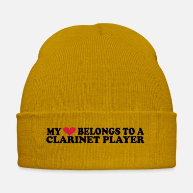 Bass Clarinet MY HEART BELONGS TO A CLARINET PLAYER - Winter Hat