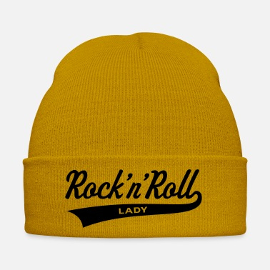 Vintage Guitar Rock 'n' Roll Lady, Girlie-T-Shirt - Winter Hat