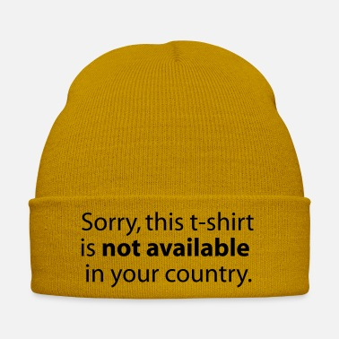 Country not available in your country - Cappello invernale