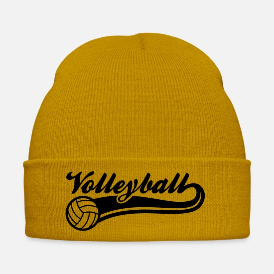 Ball Caps & Hats - volleyball - Winter Hat mustard yellow