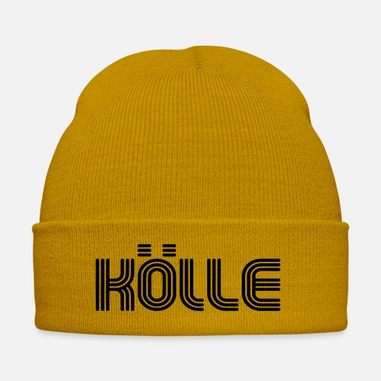 70s Caps & Hats - Koelle 70s font Lounge - Winter Hat mustard yellow