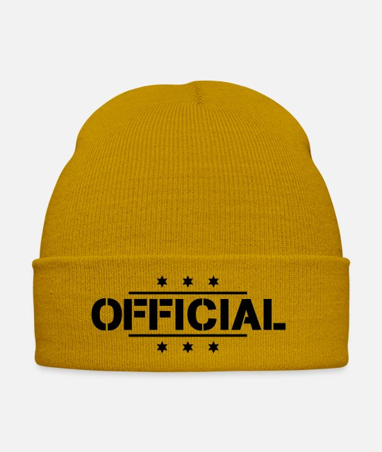 New Caps & Hats - official_f1 - Winter Hat mustard yellow