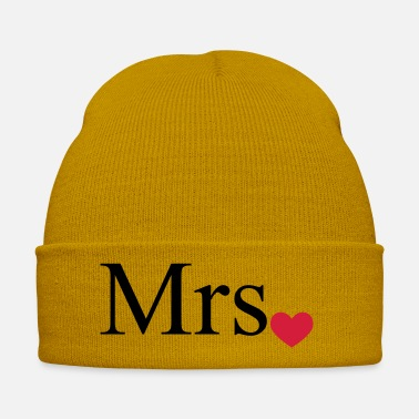 Mr Mrs with heart dot (Mr and Mrs set) - Winter Hat