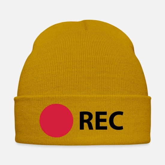 Photographer Caps & Hats - RECORD - Winter Hat mustard yellow