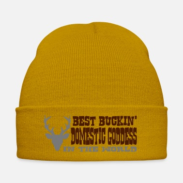 Goddess best buckin domestic goddess in the worl - Winter Hat