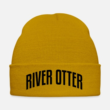 Otter river otter stylish arched text logo cop - Winter Hat