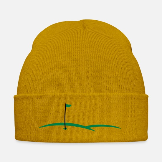 Golf Caps & Hats - golf hole 2c - Winter Hat mustard yellow