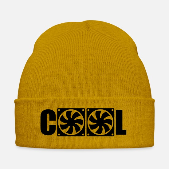 Fan Caps & Hats - Cool fan - Winter Hat mustard yellow