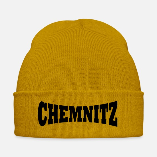 Lettering Caps & Hats - Chemnitz lettering - Winter Hat mustard yellow