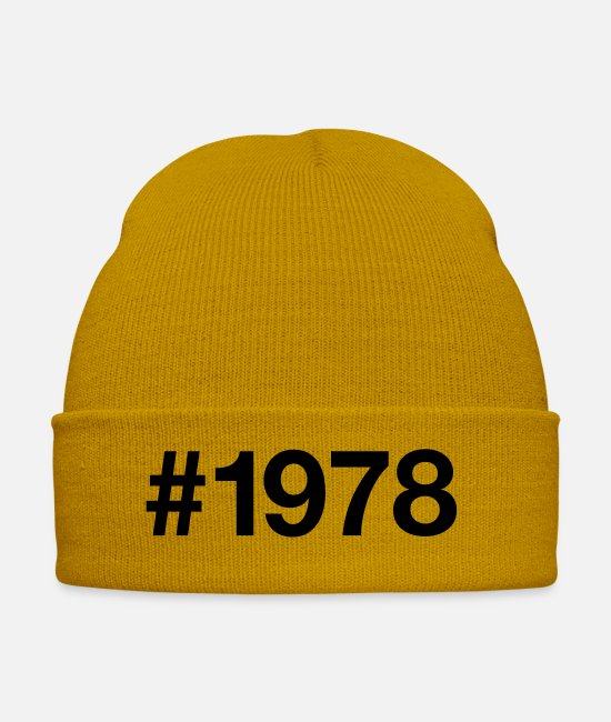 Hashtag Caps & Hats - 1978 - Winter Hat mustard yellow