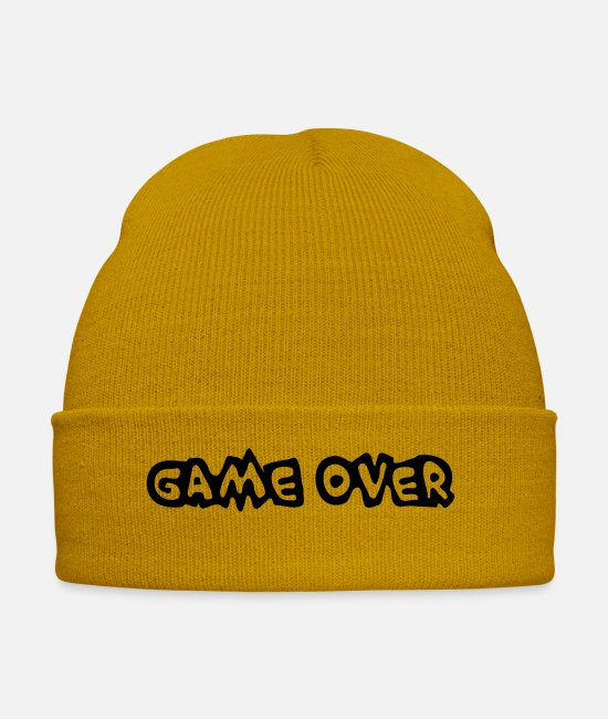 Programmemer Caps & Hats - Game Over - Winter Hat mustard yellow