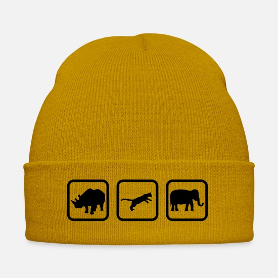 Nature Caps & Hats - zoo_1____f1 - Winter Hat mustard yellow