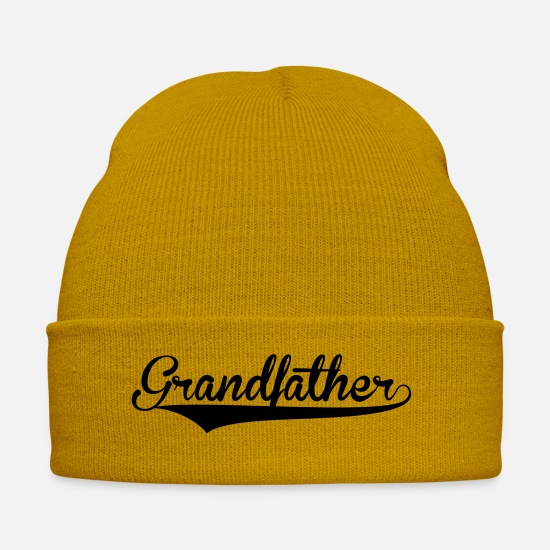 Ball Caps & Hats - grandfather retro college baseball style - Winter Hat mustard yellow