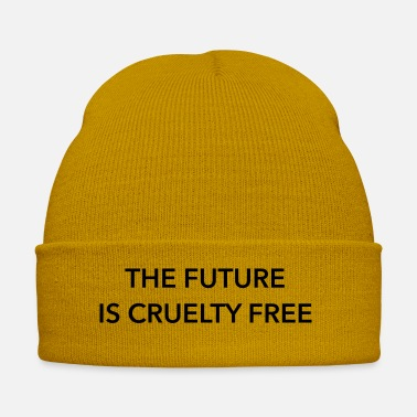 Statement Vegan, The Future Is Cruelty Free, Statement Quote - Cappello invernale