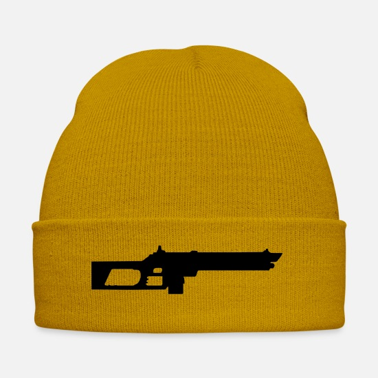 Humor Imagination Joke Kill Paintball St23 States Caps & Hats - army cool funny gun military - Winter Hat mustard yellow