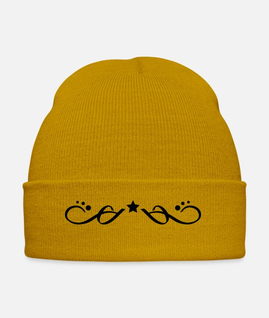 Line Caps & Hats - ornament_element_f1 - Winter Hat mustard yellow