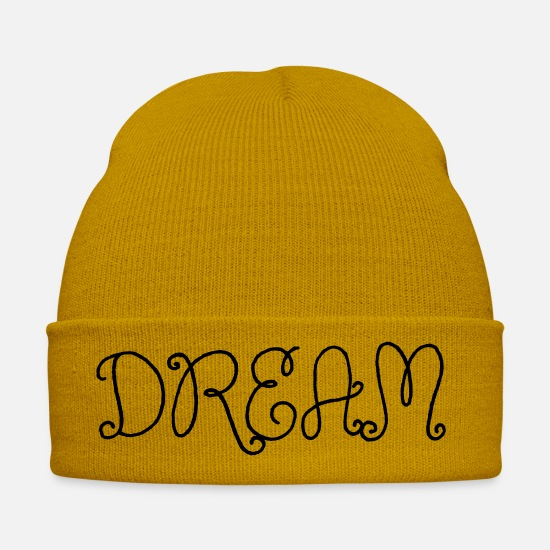 Ziel Caps & Hats - Dream decorated font - Winter Hat mustard yellow