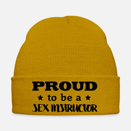 Proud Caps & Hats - sex instructor proud to be - Winter Hat mustard yellow