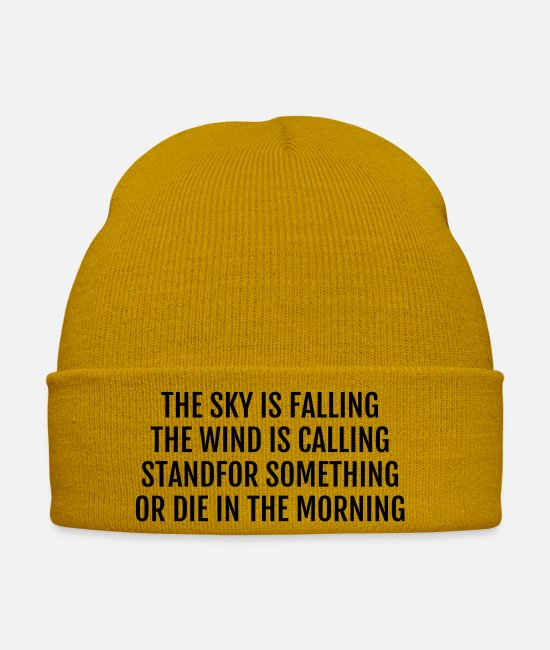 Rap Caps & Hats - Rap - Rapper - Music - Graffiti- Hip Hop - DJ - MC - Winter Hat mustard yellow